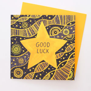 A Magical Starry 'Good Luck' Card - shop by category