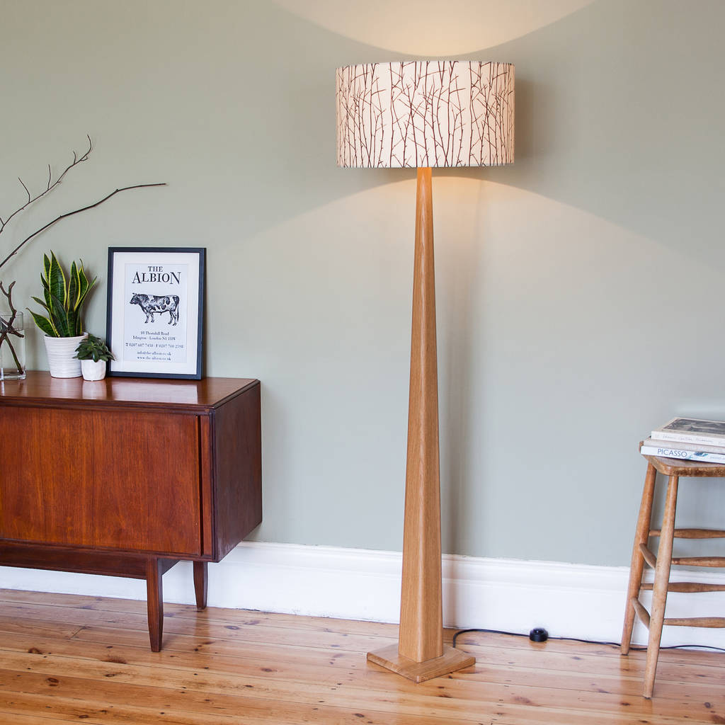 Oak Standard Lamp By James Design Notonthehighstreet Com