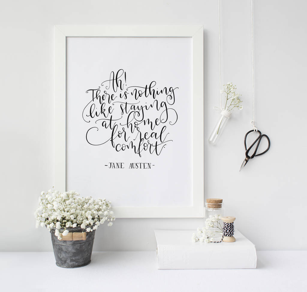 'Nothing Like Staying At Home' Hand Lettered Print