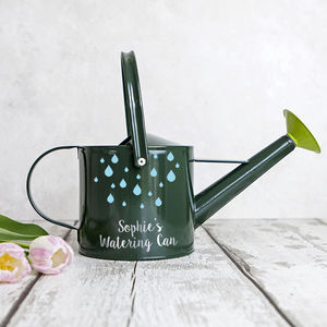 Personalised Children's Green Watering Can