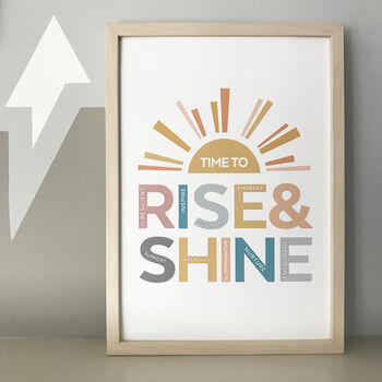 Rise And Shine Typographic Print