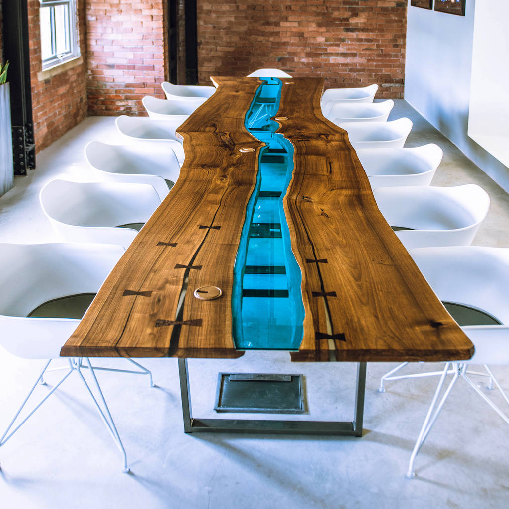 Glass River Table By Revive Joinery Notonthehighstreet Com