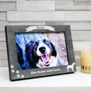 Personalised Stone Effect Dog Photo Frame