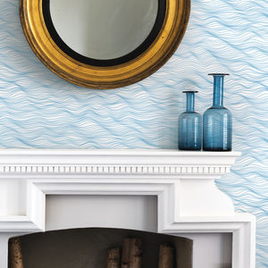 'Linear Waves' Wallpaper - home accessories