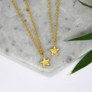 Children's 24ct Gold Plated Star Charm Necklace - new in wedding styling