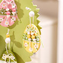 Set Of Four Hanging Colourful Easter Egg Decorations