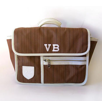Handlebar Bicycle Bag With Personalised Initials