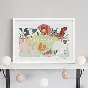 Farm Animals Personalised Print - personalised