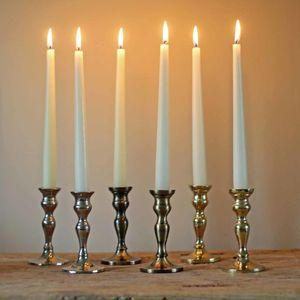 Gold, Bronze, Rose Gold, Silver Candlesticks Set Of Two - candles & home fragrance
