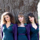 Lace Bridesmaids Dresses In Emerald And Blackcurrant