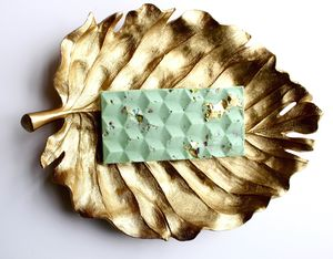 Sea Salt And Pistachio Chocolate Bar With 23ct. Gold - chocolates & confectionery