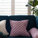 Handmade Square Macramé Cushion