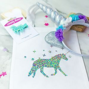 Girls Unicorn Headband, Clip And Bag Gift Set - hair accessories