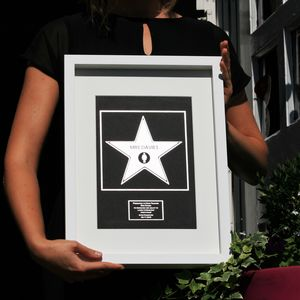 Personalised Metallic Hollywood Star Print - view all new
