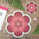 Flower Shaped Coasters | Succulent Design
