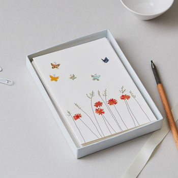 Butterflies And Flowers Luxury Boxed Card Set