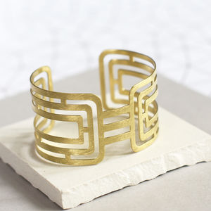 Brushed Gold Grecian Cuff - party wear & accessories
