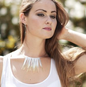 Shimmer Collar Fringe Necklace - necklaces & pendants