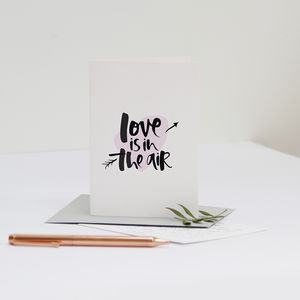 'Love Is In The Air' Engagement Card - engagement gifts
