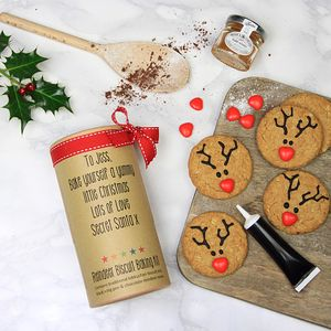 Personalised Reindeer Biscuit Baking Kit