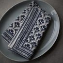 Blue And White Block Print Napkin