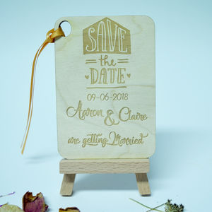 Personalised 'Save The Date' Rectangle Invitation - invitations