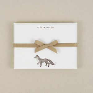 Fox Correspondence Cards - notelets & writing paper