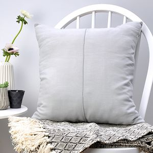 Grey Linen Pin Tuck Cushion