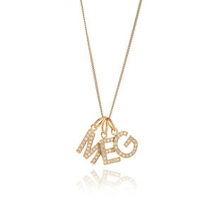 Initial Diamond Silver Necklace - necklaces & pendants