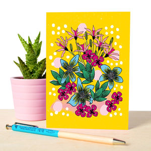 Bouquet Floral Illustrated Notebook