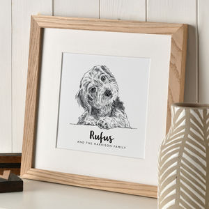 Personalised Pet Portrait Sketch - posters & prints