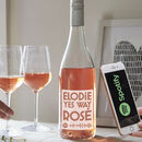 Personalised Rosé Wine With Spotify Playlist
