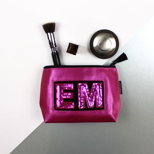 Personalised Pink Cosmetic Pouch - make-up bags