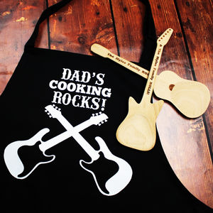 Personalised Guitar Apron - kitchen accessories