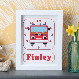 Personalised Framed Children's Clocks - children's clocks