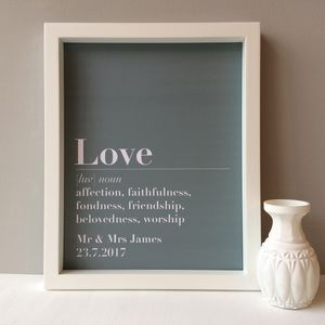 Personalised Wedding Print - typography