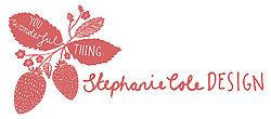 Stephanie Cole strawberry logo