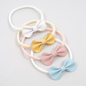 Little Love Baby Leather Bow Headband / Pastels