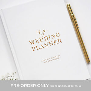 Pre Order Gold Foil Wedding Planner | Engagement Gift - planners & records
