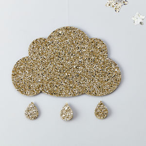 Glitter Cloud Wall Hanging