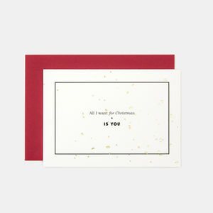 All I Want For Christmas Greeting Card - cards