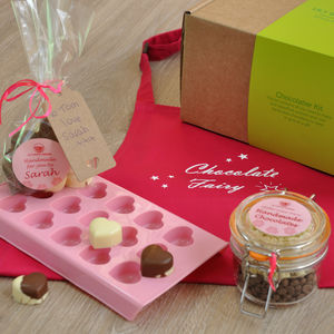 Love Heart Chocolates Kit With Apron - aprons