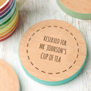Personalised Wooden Drinks Coaster For Teacher