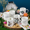 Alice in Wonderland character set of six fine bone china mug
