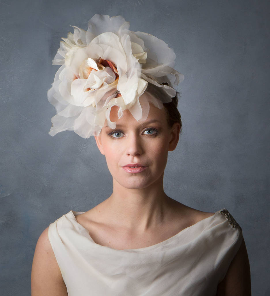 Be Bespoke Bridal Headpieces Ireland - Oversized flower boho bride headpiece