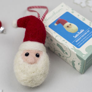 Santa Bauble Needle Felting Craft Kit