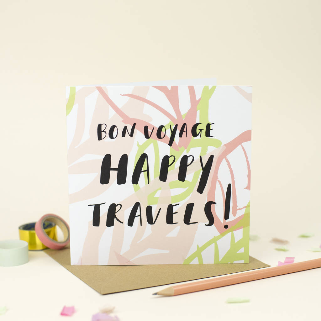 Bon voyage happy travels greetings card by louise and lygo bon voyage happy travels greetings card kristyandbryce Choice Image