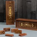 Personalised Gold Inlaid Domino Set