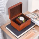 'Daddy's Cufflinks' Leather Stud Box