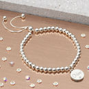Sterling Silver And Diamond Personalised Ball Bracelet